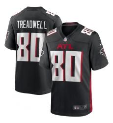 Men's Atlanta Falcons #80 Laquon Treadwell Nike Black Game Player Jersey