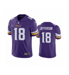 Minnesota Vikings #18 Justin Jefferson Purple 2020 NFL Draft Vapor Limited Jersey