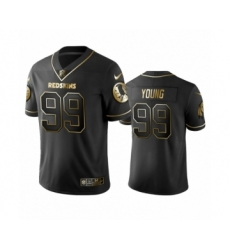 Redskins Black #99 Chase Young Golden Edition Vapor Limited Jersey