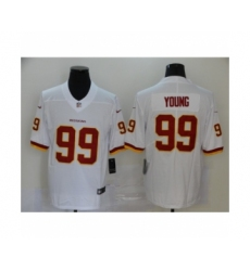 Washington Redskins #99 Chase Young white 2020 NFL Draft Vapor Limited Jersey
