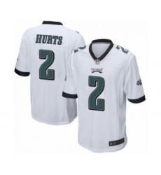 Philadelphia Eagles #2 Jalen Hurts Game White Football Jersey