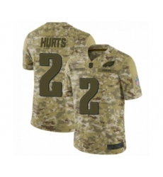 Philadelphia Eagles #2 Jalen Hurts Limited Camo 2018 Salute to Service Football Jersey