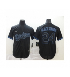 Los Angeles Dodgers #24 Kobe Bryant Black Shadow 2020 Cool Base jerseys