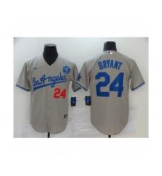 Los Angeles Dodgers #24 Kobe Bryant Gray Jersey