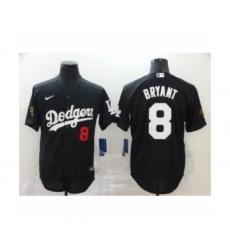 Los Angeles Dodgers #8 Kobe Bryant Black 2020 Cool Base Jersey