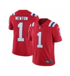 New England Patriots #1 Cam Newton Red Alternate Vapor Untouchable Limited Player Football Jersey