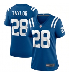 Women's Indianapolis Colts #28 Jonathan Taylor Blue Nike Royal Limited Jersey