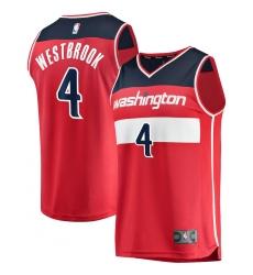 Men's Washington Wizards #4 Russell Westbrook Fanatics Branded Red 2020-21 Fastbreak Replica Jersey