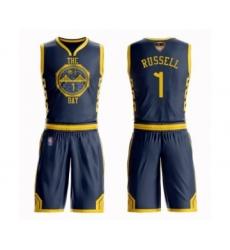Men's Golden State Warriors #1 D'Angelo Russell Swingman Navy Blue Basketball Suit Jersey - City Edition