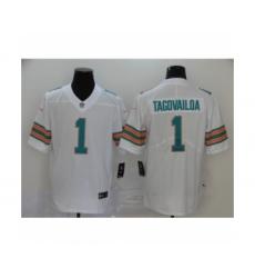 Men's Miami Dolphins #1 Tua Tagovailoa 2020 White Alternate Vapor Limited Jersey