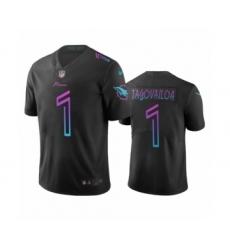 Miami Dolphins #1 Tua Tagovailoa Black City Edition Vapor Limited Jersey