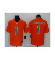 Miami Dolphins #1 Tua Tagovailoa Limited Orange Vapor Untouchable Football Jersey
