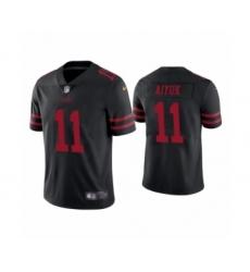Men's San Francisco 49ers #11 Brandon Aiyuk 2020 Black Vapor Untouchable Limited Player Football Jersey