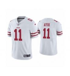 Men's San Francisco 49ers #11 Brandon Aiyuk 2020 White Vapor Untouchable Limited Player Football Jersey