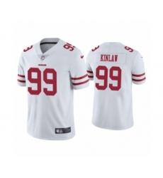 Men's San Francisco 49ers #99 Javon Kinlaw 2020 White Vapor Untouchable Limited Player Football Jersey