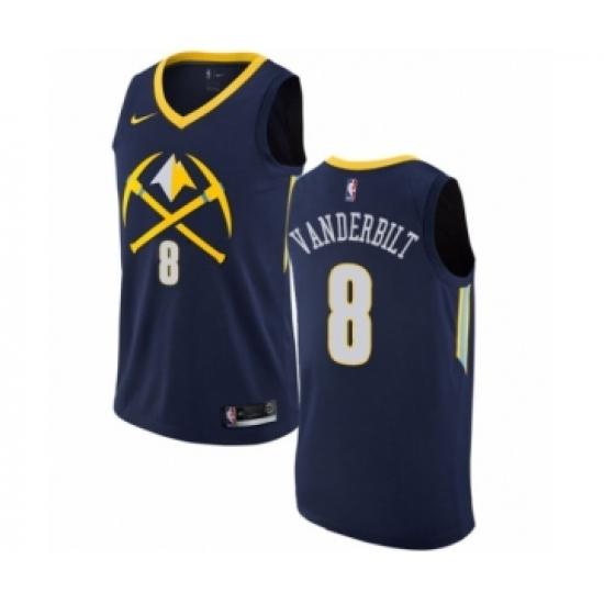 buy popular 5f4b4 ccf2f Youth Nike Denver Nuggets #8 Jarred Vanderbilt Swingman Navy ...