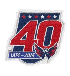 Stitched 2014-15 Washington Capitals 40th Team Anniversary Jersey Patch f975551a5