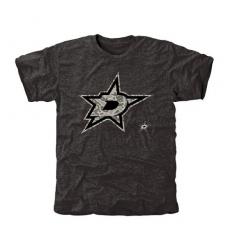 NHL Men's Dallas Stars Black Rink Warrior Tri-Blend T-Shirt