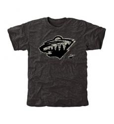 NHL Men's Minnesota Wild Black Rink Warrior Tri-Blend T-Shirt