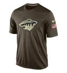 NHL Men's Minnesota Wild Nike Olive Salute To Service KO Performance Dri-FIT T-Shirt