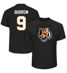 Men's Cincinnati Bengals #9 Joe Burrow Black Big & Tall Eligible Receiver III Name & Number T-Shirt.webp