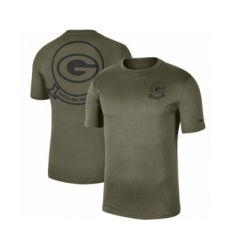 Football Men's Green Bay Packers Olive 2019 Salute to Service Sideline Seal Legend Performance T-Shirt
