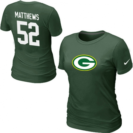 competitive price ea632 af161 Nike Green Bay Packers #52 Clay Matthews Name & Number ...