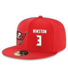NFL Tampa Bay Buccaneers #3 Jameis Winston Stitched Snapback Adjustable Player Hat - Red/White