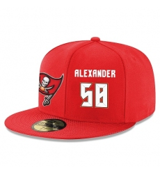 NFL Tampa Bay Buccaneers #58 Kwon Alexander Stitched Snapback Adjustable Player Hat - Red/White