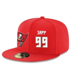 NFL Tampa Bay Buccaneers #99 Warren Sapp Stitched Snapback Adjustable Player Hat - Red/White