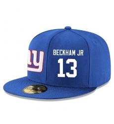 NFL New York Giants #13 Odell Beckham Jr Stitched Snapback Adjustable Player Hat - Blue/White