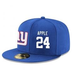 NFL New York Giants #24 Eli Apple Stitched Snapback Adjustable Player Hat - Blue/White