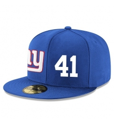 NFL New York Giants #41 Dominique Rodgers-Cromartie Stitched Snapback Adjustable Player Hat - Blue/White