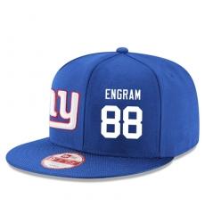 NFL New York Giants #88 Evan Engram Stitched Snapback Adjustable Player Hat - Blue/White