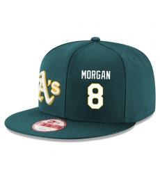 MLB Men's Oakland Athletics #8 Joe Morgan Stitched New Era Snapback Adjustable Player Hat - Green/White