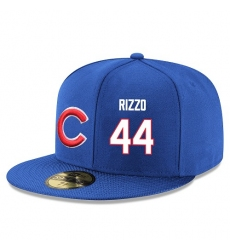 MLB Majestic Chicago Cubs #44 Anthony Rizzo Snapback Adjustable Player Hat - Royal Blue/White