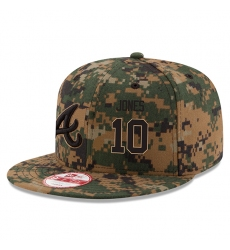 MLB Men's Atlanta Braves #10 Chipper Jones New Era Digital Camo 2016 Memorial Day 9FIFTY Snapback Adjustable Hat