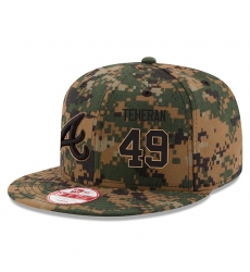 MLB Men's Atlanta Braves #49 Julio Teheran New Era Digital Camo 2016 Memorial Day 9FIFTY Snapback Adjustable Hat