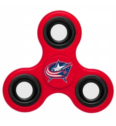 NHL Columbus Blue Jackets 3 Way Fidget Spinner A109 - Red