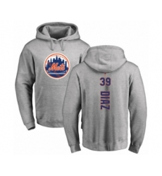 Baseball New York Mets #39 Edwin Diaz Ash Backer Pullover Hoodie