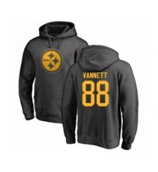 Pittsburgh Steelers #88 Nick Vannett Ash One Color Pullover Hoodie
