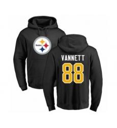 Pittsburgh Steelers #88 Nick Vannett Black Name & Number Logo Pullover Hoodie