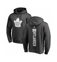 Hockey Toronto Maple Leafs #88 William Nylander Charcoal One Color Backer Pullover Hoodie