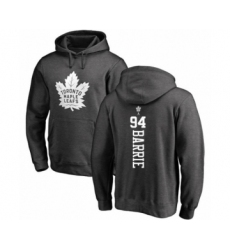 Hockey Toronto Maple Leafs #94 Tyson Barrie Charcoal One Color Backer Pullover Hoodie