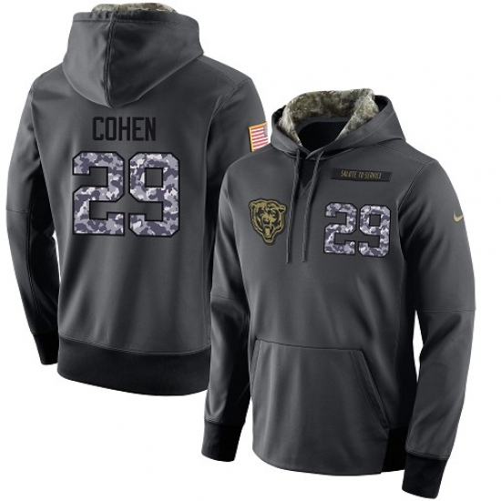 premium selection 90b01 c5683 NFL Men's Nike Chicago Bears #29 Tarik Cohen Stitched Black ...
