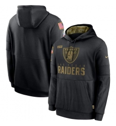 Men's NFL Oakland Raiders 2020 Salute To Service Black Pullover Hoodie