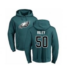 Philadelphia Eagles #50 Duke Riley Green Name & Number Logo Pullover Hoodie