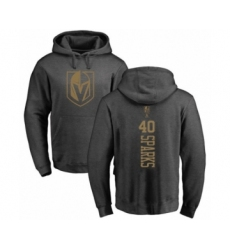 Hockey Vegas Golden Knights #40 Garret Sparks Charcoal One Color Backer Pullover Hoodie