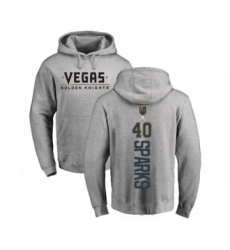 Hockey Vegas Golden Knights #40 Garret Sparks Gray Backer Pullover Hoodie