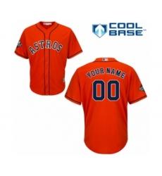 Youth Houston Astros Customized Authentic Orange Alternate Cool Base 2019 World Series Bound Baseball Jersey